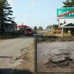 Droga Białystok-Kruszewo przed przebudową, źródło: www.powiatbialostocki.pl