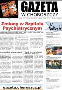 """Pierwsza strona 111 numeru """"Gazety w Choroszczy"""""""
