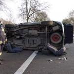 Wypadek koło Babina, foto: www.wspolczesna.pl