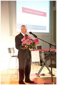 Burmistrz Choroszczy Jerzy Ułanowicz odbiera Nagrodę Satysfakcja Mieszkańców 2009, foto: Rafał Nowakowski