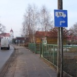 Objazd dla tirów: skręt w ul. Lipową, fot. Izolda Hukałowicz
