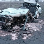 Wypadek w Łyskach (19 marca 2010), fot: KWP Białystok