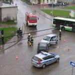 Wypadek w Choroszczy, foto: Damian G.
