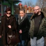 Pielęgniarki i pielęgniarz z Choroszczy przed wyjazdem na protest, fot. I. Hukałowicz
