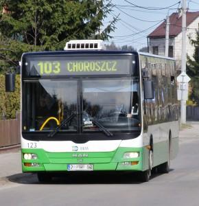 """Autobus, 103, Dzień bez samochodu. Fot. """"Gazeta w Choroszczy"""""""