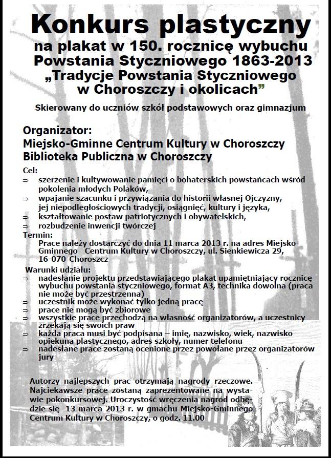 konkurs plastyczny, Bibliotka Publiczna w Choroszczy