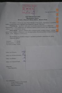 list protestacyjny
