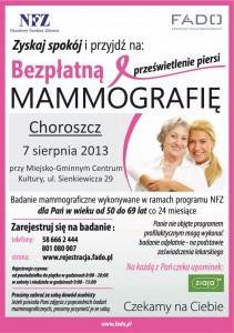 mammografia 7 sierpnia 2013