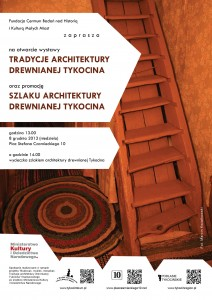 Architektura drewniana plakat