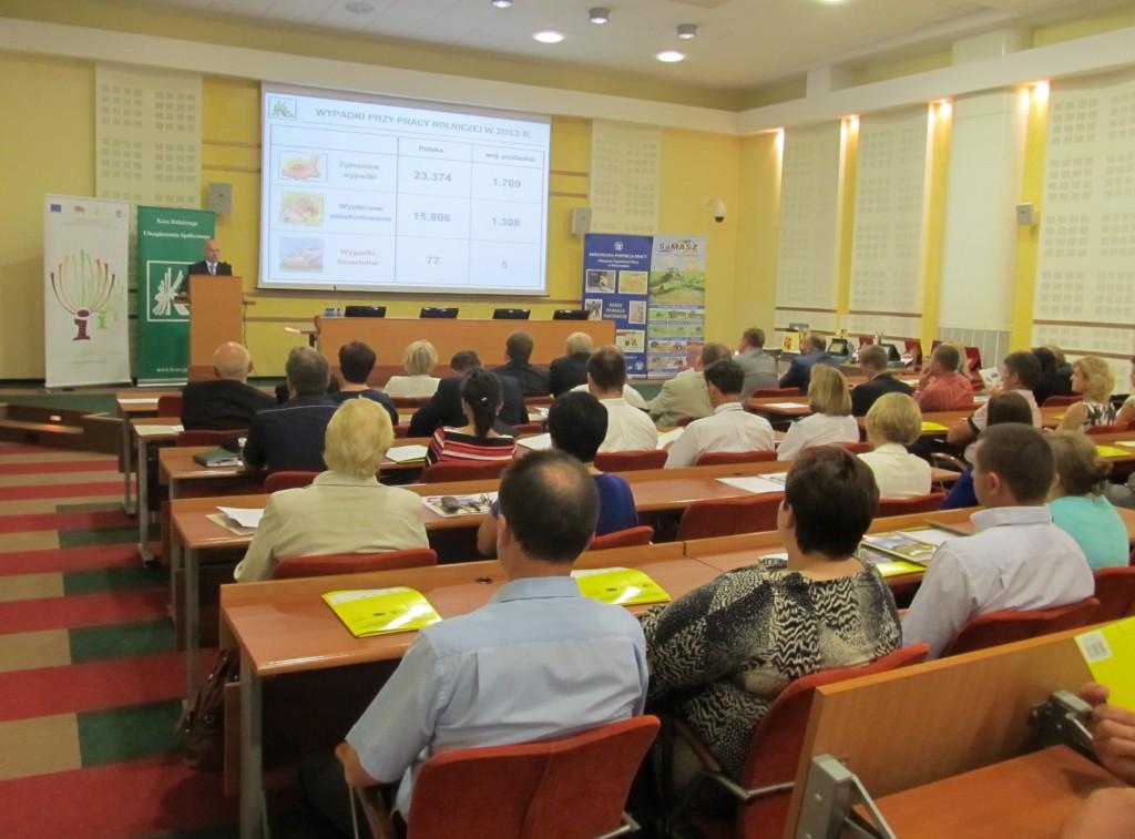 konferencja - wystąpienie przedstawiciela OR KRUS w Białymstoku